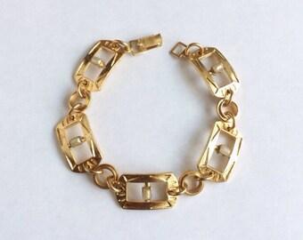 Vintage Art Deco Glass Pearl Bracelet