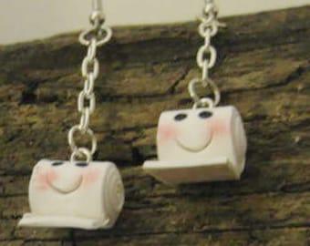 Handcrafted Earrings Toilet Paper Rolls