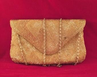 Delill vintage handmade  beaded clutch purse!