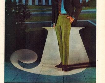 "Vintage Print Ad 1969 : Jaymar  ""Come September and its Jaymar...Cum Laude!"" Advertisement Color Wall Art Decor 8.5"" x 11"""