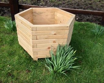 70cm Hexagon Wooden Planter