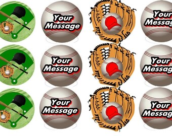 Baseball Edible Images  ( 2.5 Inch ) Cupcake or Cookie Toppers