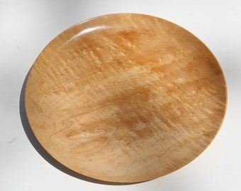 Handturned Quilted Maple Platter  -  Item 1019