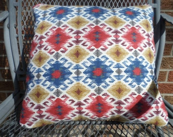 "14X14"" Southwestern print throw pillow cover"