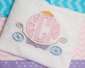 Girls Princess Carriage Disney Monogrammed Shirt
