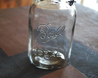 Ball Ideal Mason Jar with Glass Lid