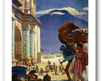 TW75 Vintage Guatemala South America Travel Tourism Poster Re-Print Wall Decor A1/A2/A3/A4