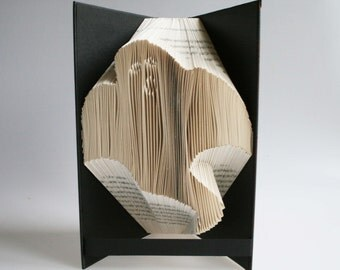 Ghost Book Folding Pattern: Includes free printable downloads (pdf) to personalise your book art and  full step by step tutorial.