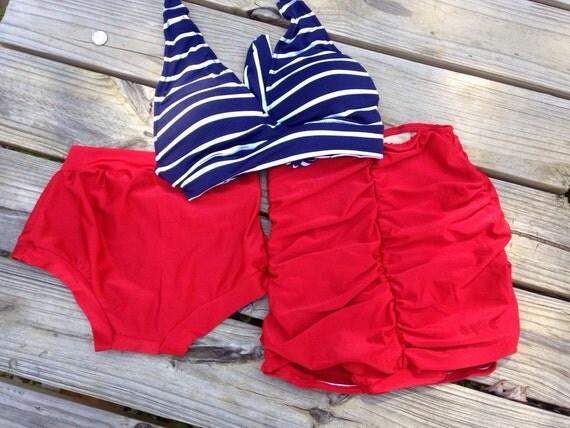 Retro Swimsuit Set- Vintage Swimwear- high waist bikini - Pin Up Swimsuit