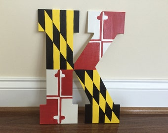 Maryland Flag Wooden Letters