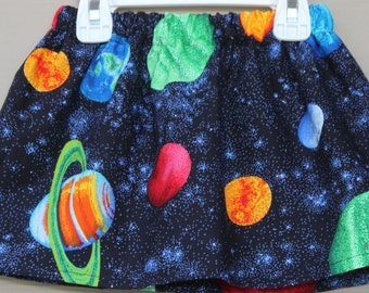 Girls Skirts Little Girls Solar System Skirt-Planets, Solar System, Outer Space Skirt