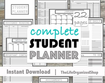 Student Planner (College Planner/ High School Planner) - From the Minimalist Collection
