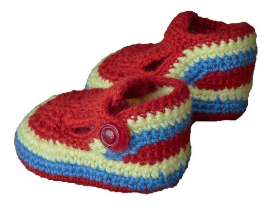 Items similar to Unisex Baby Crochet Shoes, Infant Sandals ...