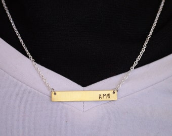 Sample Personalized brass and silver necklace - how you want it!