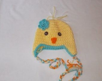 Toddler, preschool, child  baby chick hat.  Made to order.