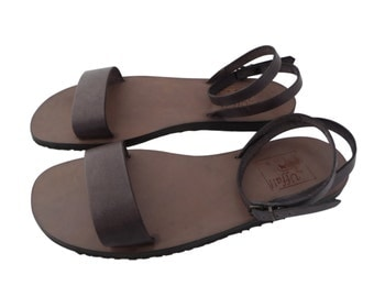 Handmade leather and hide sandals for women