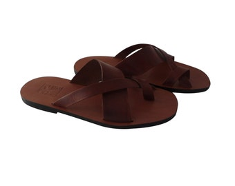 Men 's Sandals  Handcrafted  in Leather-