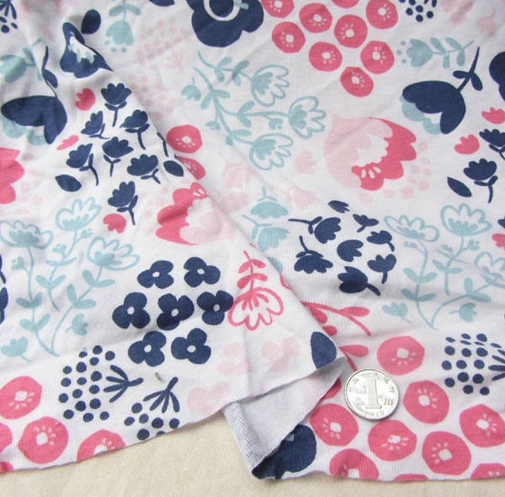 Kids baby print knit fabric 100 cotton by for Knit fabric childrens prints