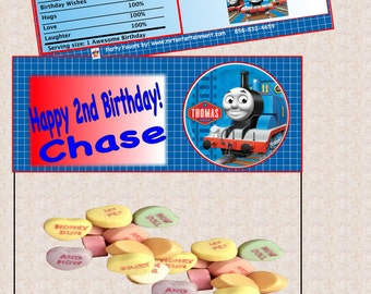 Personalized Thomas the Train Candy toppers