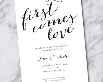 Printed Engagement Party Invitations