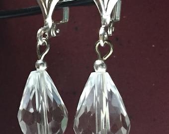 Glass clasp earrings