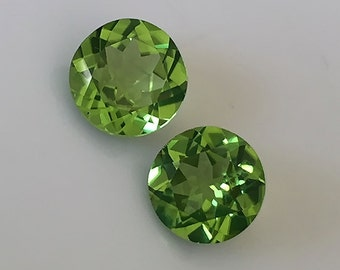 An Excellent Top Grade Peridot Gem Pair - CERTIFIED - Ready for setting