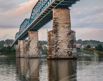 Walnut Street Bridge Photograph -Walking bridge in Chattanooga
