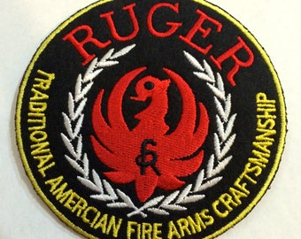 Ruger  patch 3.5  inch iron on  or sew on patch