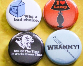 "Anchorman Set of 4 - 1"" Pinback Buttons"