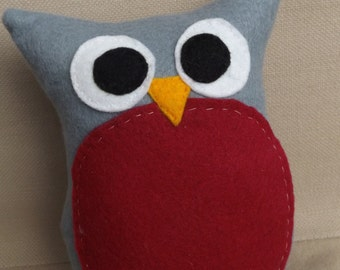 Handmade Felt Owl, Plush