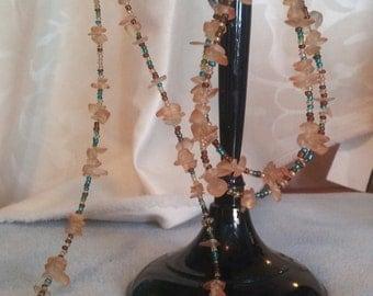 Delicate beaded choker and bracelet set