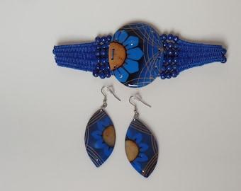 Eco-Jewelry TOTUMO Made Bracelet & Earrings Set