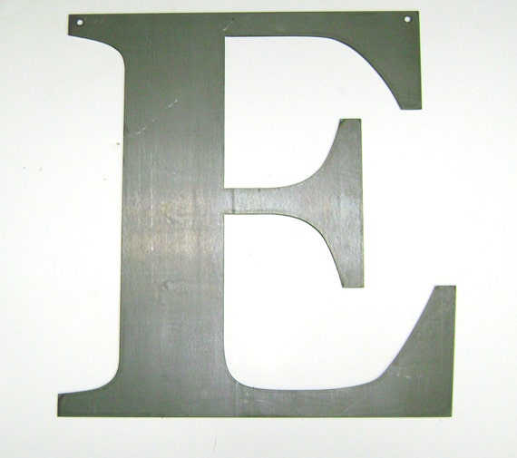 Large Metal Letters For Wall Items Similar To Large 19 Metal Letter E Plasma Cut Wall Decor For
