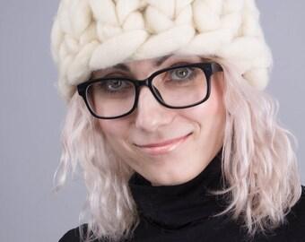 Chunky hat, merino wool, womens hats, slouchy beanie, knitted.