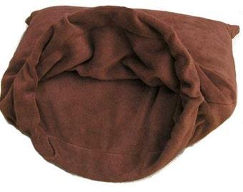 "Med 27""X30"" Brown Polar Fleece Snuggle Bed"
