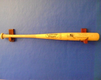 Single Baseball Bat holder - horizontal -cherry wood