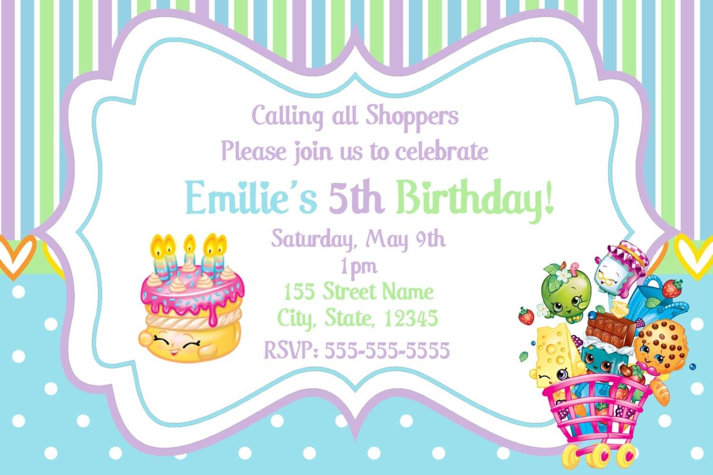 Shopkins Invitations / Shopkins Birthday Party by DigitalWorld1