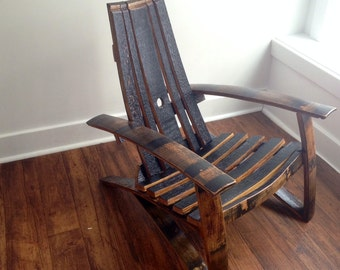 Bourbon/Whiskey Barrel Adirondack Chair