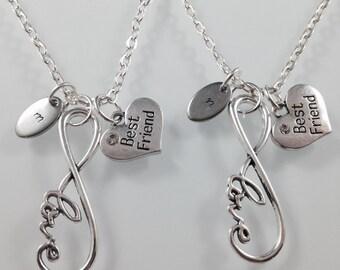 Best friend necklace, personlaized best friend jewelry, love necklace