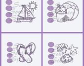 Summer/Beach PYO Cookie Stencils  (4 separate stencils)
