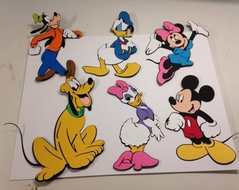 Set of 6 Mickey Mouse characters #1