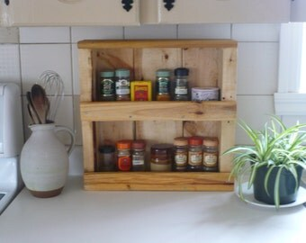Recycled wood Spice rack