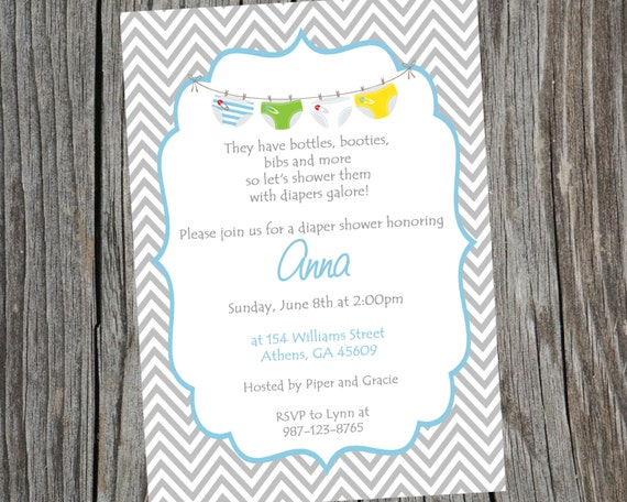 5x7 diaper and wipes baby shower invitations and envelopes diaper