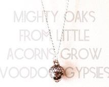Mighty Oaks- Acorn Charm Necklace