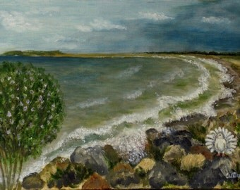 Durankulak beaches-Bulgaria EU-Original painting-Seascape-Handmade by Silvia Dimova