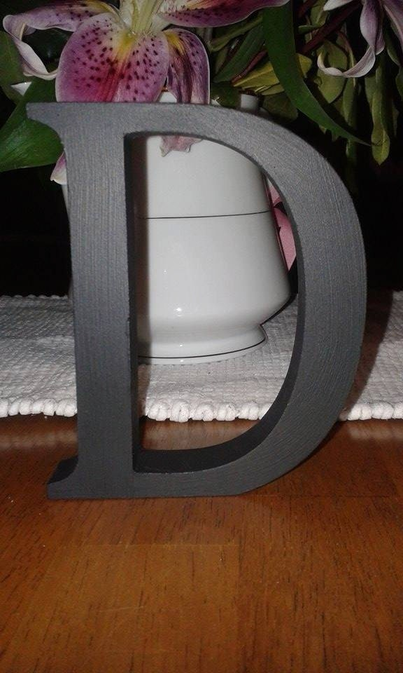 Black wooden letters and numbers free standing painted for Standing wood letters to paint