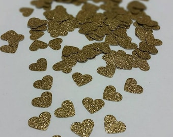Glitter Gold Heart Confetti. Party supplies wedding decorations party shower decorations