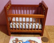 Peter bunny pink dolls house rug and 3 piece canvas wall art set for your nursery/childs room 1/12 scale
