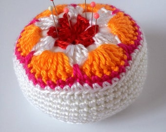 Bright Crochet Pincushion - ** Free Shipping***