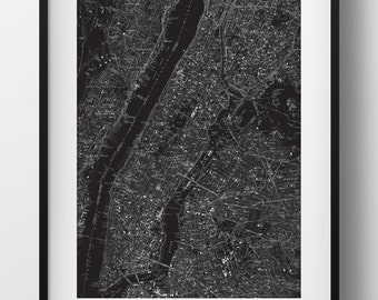New York City Map Poster 11x17